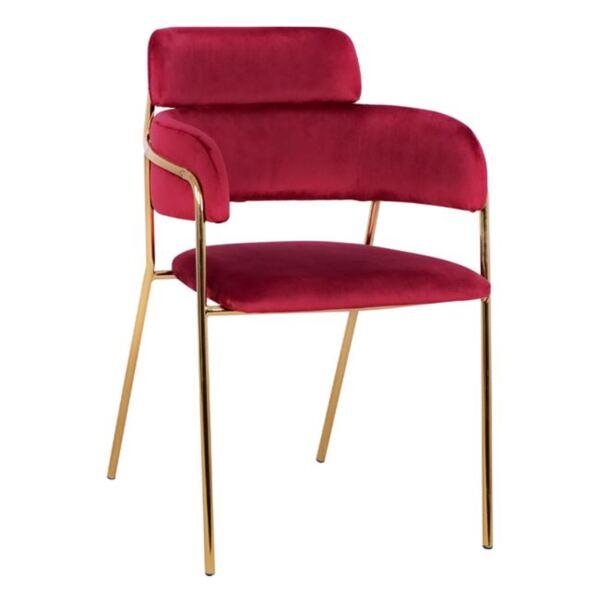 Кресло Келсо кадифе бордо