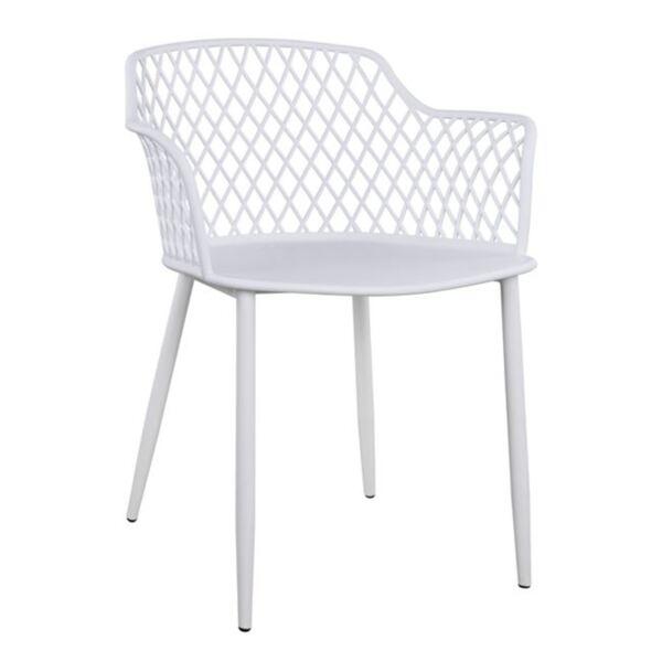 Полипропиленово кресло Джоселин бял с метални крака