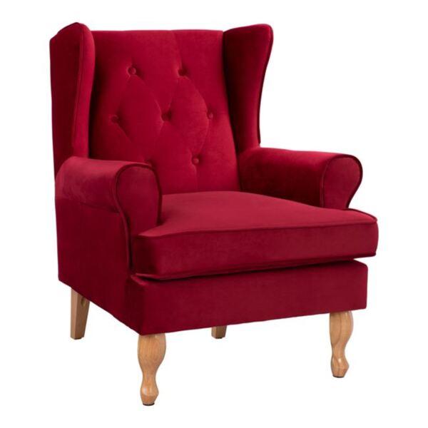 Кресло Брандън - червено кадифе