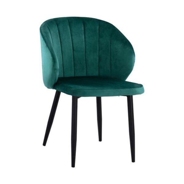 Кресло Дуейн кадифе с метална рамка