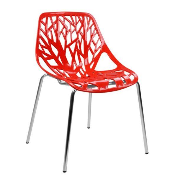 Полипропиленов стол Елза червена седалка
