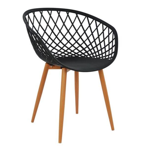 Полипропиленово кресло Ариадна в черно