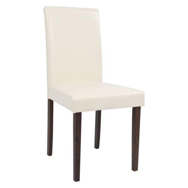 Трапезен стол Selene цвят крем PU