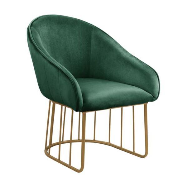 Кресло Коди - кадифе със златна основа