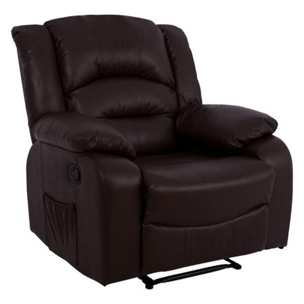 Кресло Comfort с Релакс механизъм кафяв PU