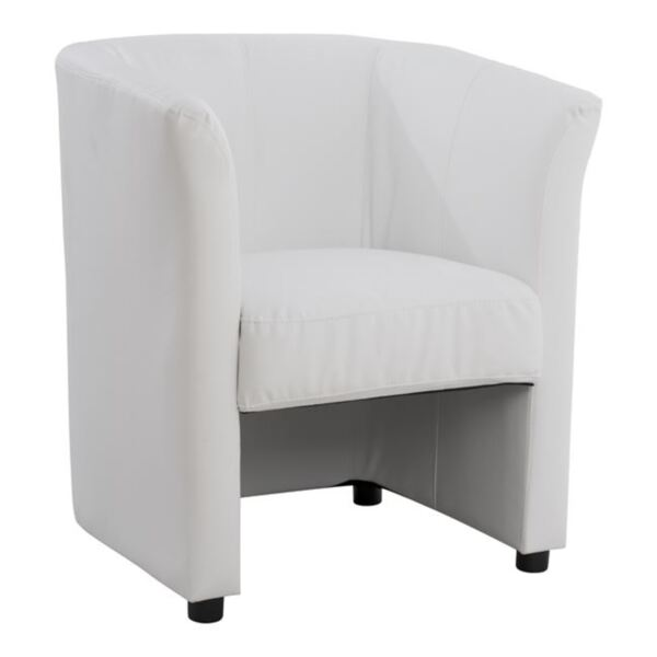 Полиуретаново кресло бяла кожа - Аполон