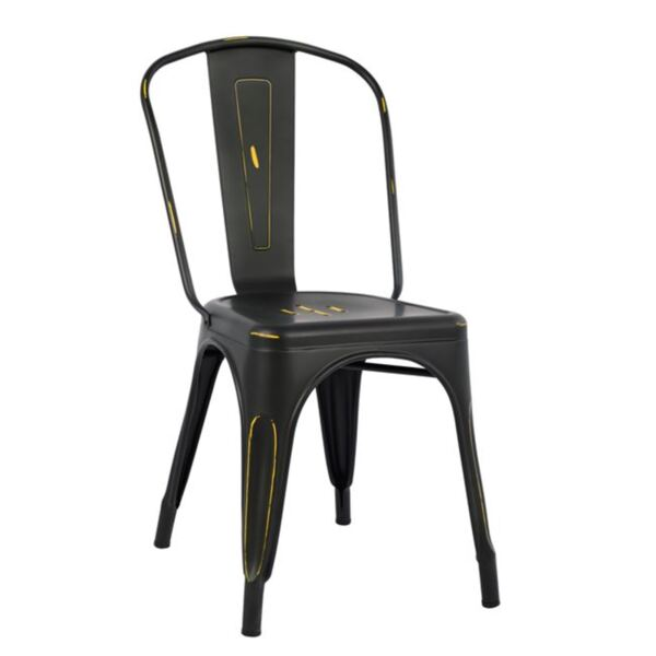 Метален стол Мелита в черно