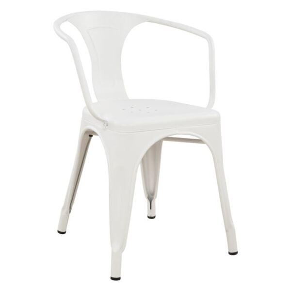 Метално кресло Мелита в бял цвят