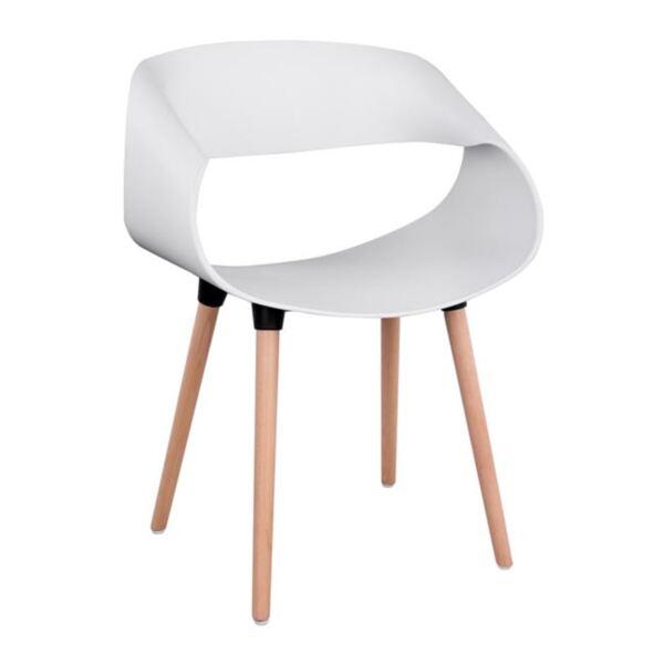 Полипропиленово Кресло Маги с бял цвят