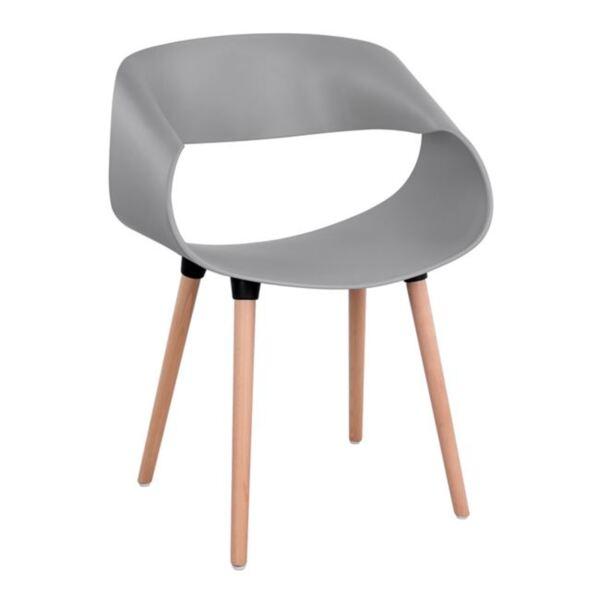 Полипропиленово Кресло Маги в сив цвят