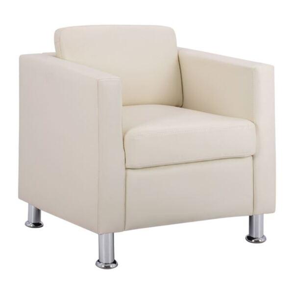 Кресло Cubo в цвят крем PU