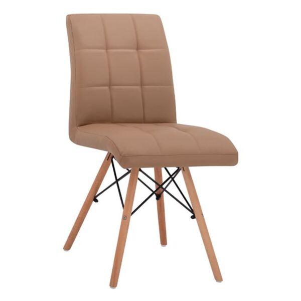 Трапезен Стол Rosa с дървени крака и седалка капучино