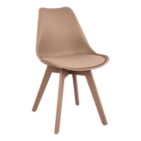 Трапезен Стол Вегас с полипропиленови крака и седалка капучино