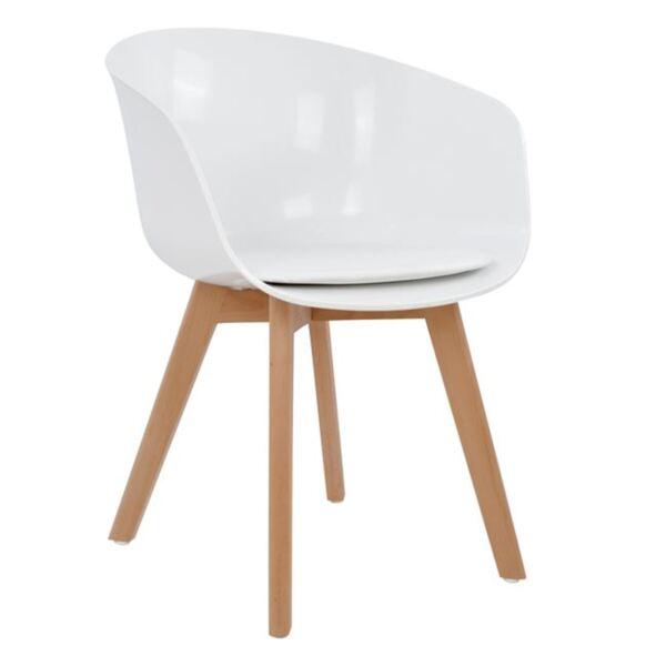 Бял стол с полипропиленова седалка- Портос