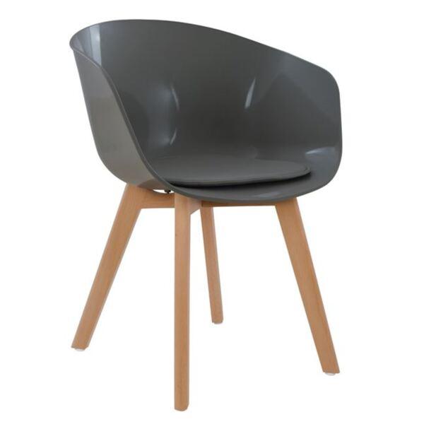 Сив стол с полипропиленова седалка - Портос