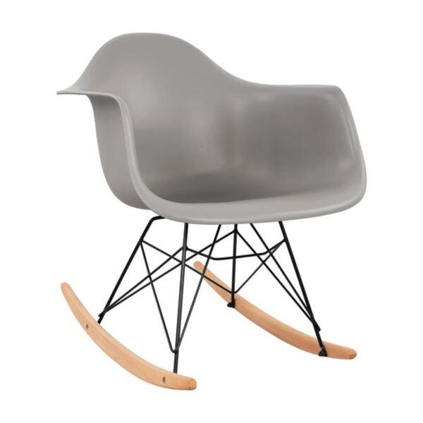 трапезен сив стол Мирто с черна рамка