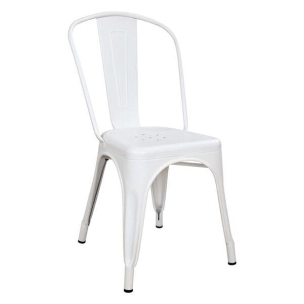 Метален стол Мелита в бяло