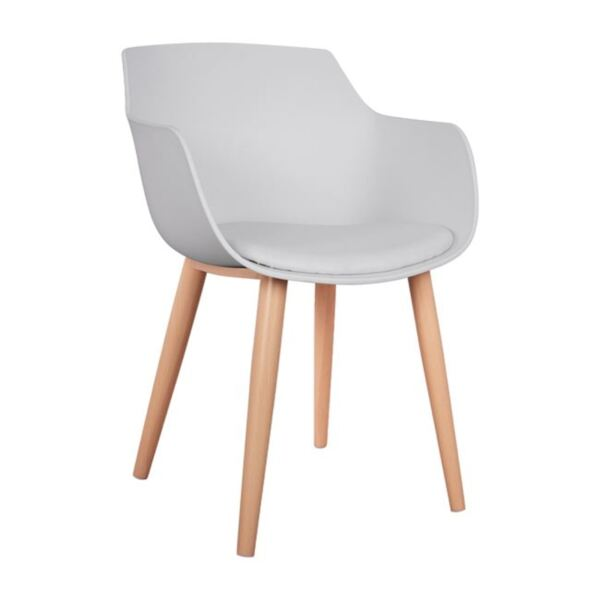 Стол Lucie - Бял с метални крака