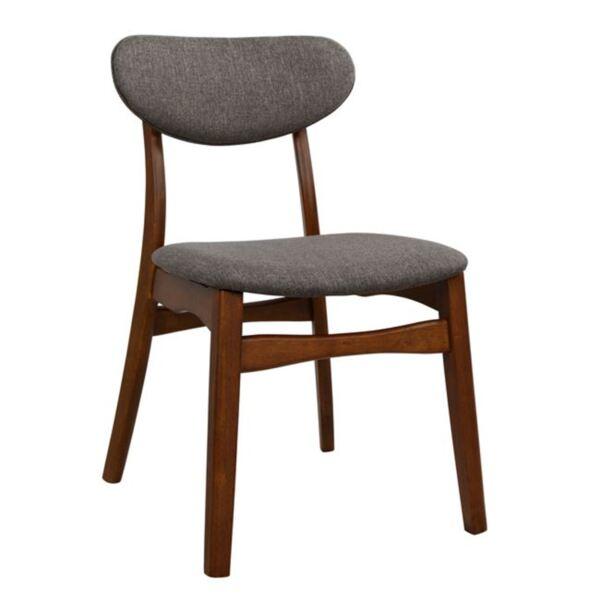 """Дървен стол Орех"""" с платнена седалка и облегалка"""""""