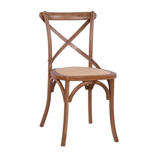 Трапезен Стол от дъб - тъмен мед