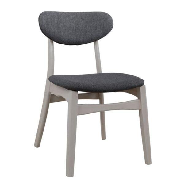Дървен стол със седалка и облегалка от плат