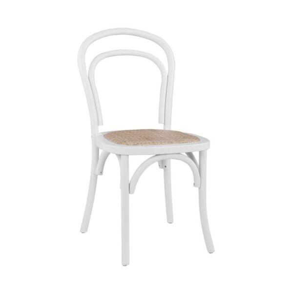 """Дървен стол Виена Алия - Бук"""" в бял мат"""""""