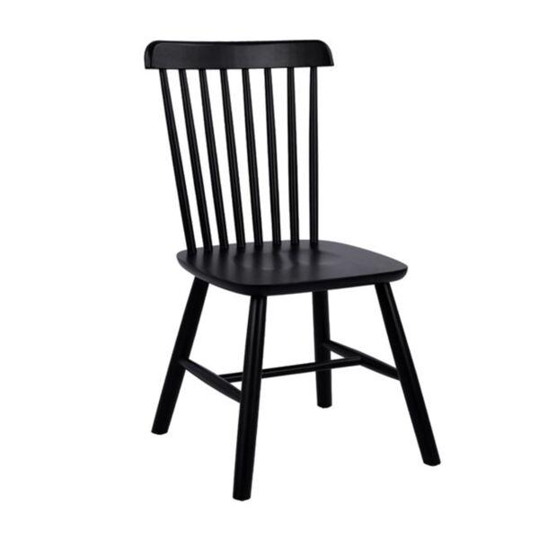 Дървен стол Люсиен в черен мат