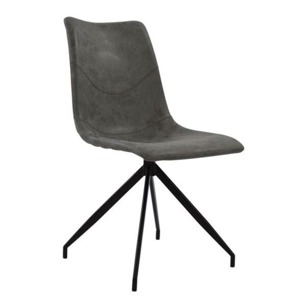 Метален стол Селест със сива седалка PU