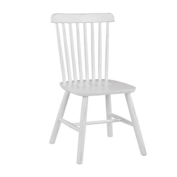 Дървен стол Люсиен в бяло