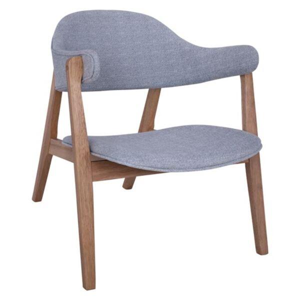 """Кресло Сиера цвят Орех"""" и светлосин плат"""""""