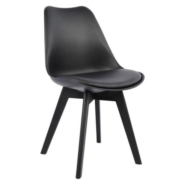 Стол Вегас с полипропиленови крака и черна седалка