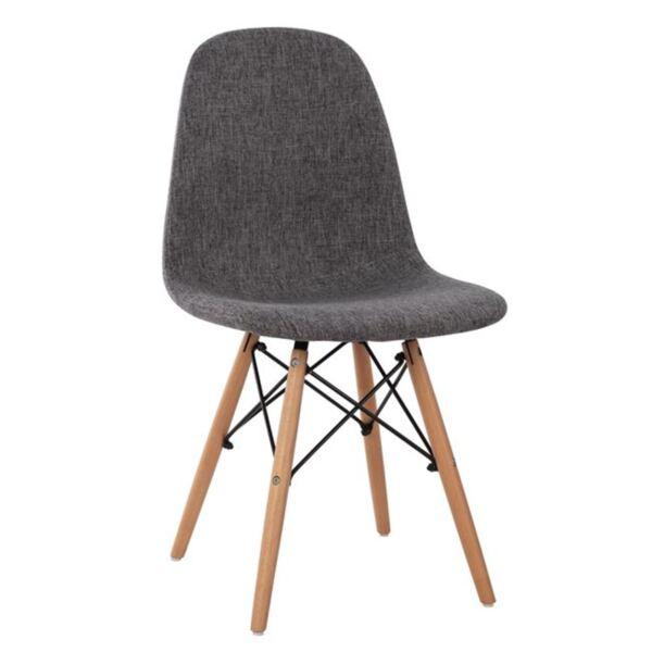 Стол с дървени крака и сива седалка Twist