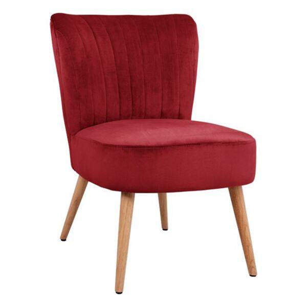 Кадифен стол Кариса в червено