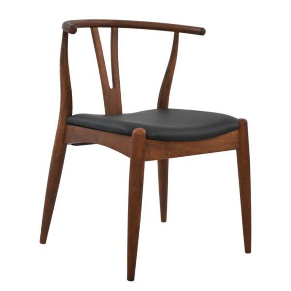 Стол Brave със седалка в черен цвят PU