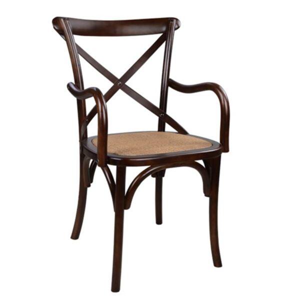 Дървен стол Forenza кафяв