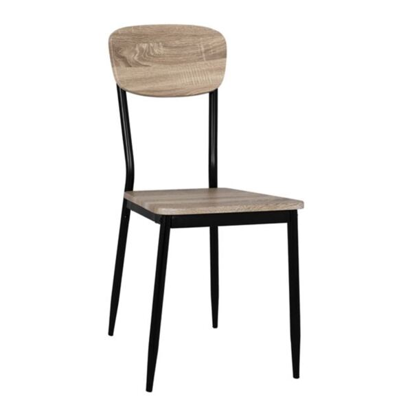Стол цвят сонама с черни крака