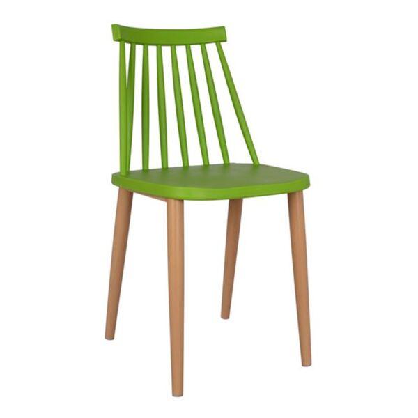 Стол Ванеса - зелен с метални крака