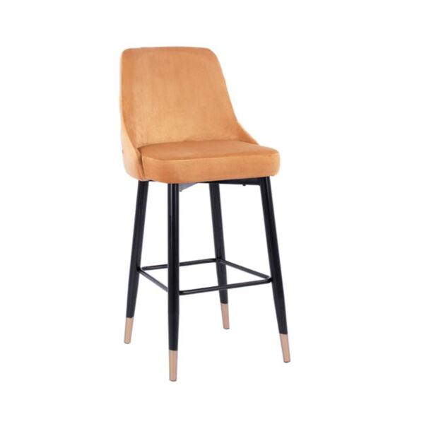 Бар стол Relax кадифе с метална рамка
