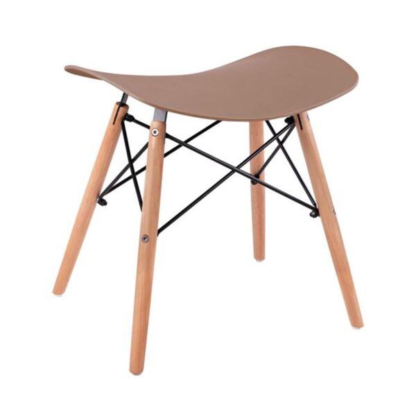 Стол с дървени крака Тоня цвят капучино