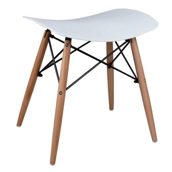 Стол с дървени крака Тоня в бяло