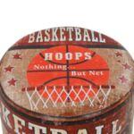 Табуретка от PU с дървени крака Basketball