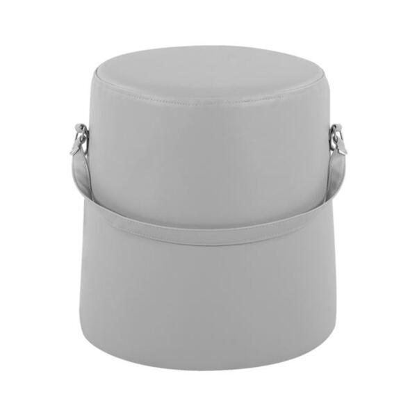 Табуретка Джина с PU в светло сив цвят