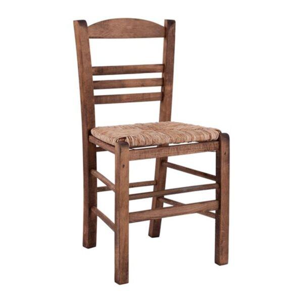 """Стол в цвят орех"""" със слама"""""""
