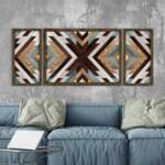 Декоративнo платно MDF с дървена конструкция PWF-0221  дигитален печат 120x3,5x50 см