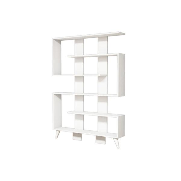 Библиотека Джейн в бял цвят 120x22x164