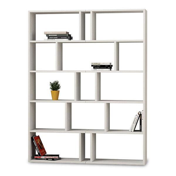 Библиотека Tapi 2  в бял цвят 124x28x161 см