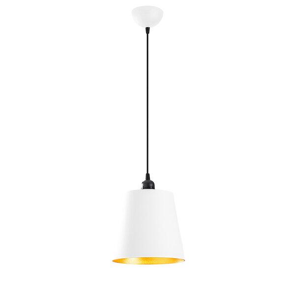 Висяща лампа PWL-0096  в бяло-златист цвят D21x117 см