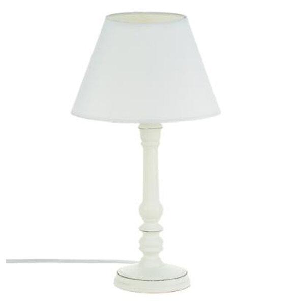 Настолна лампа Лео  в бял цвят D20x26 см