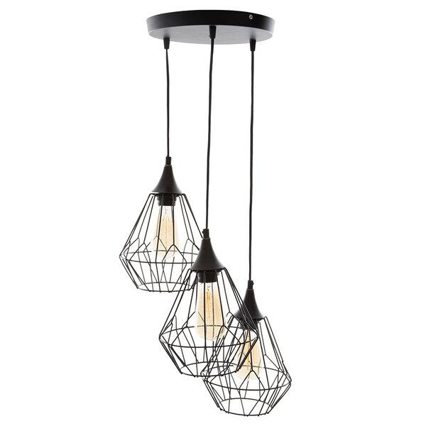 Висяща лампа Flave  в черен цвят D24,5x80 см
