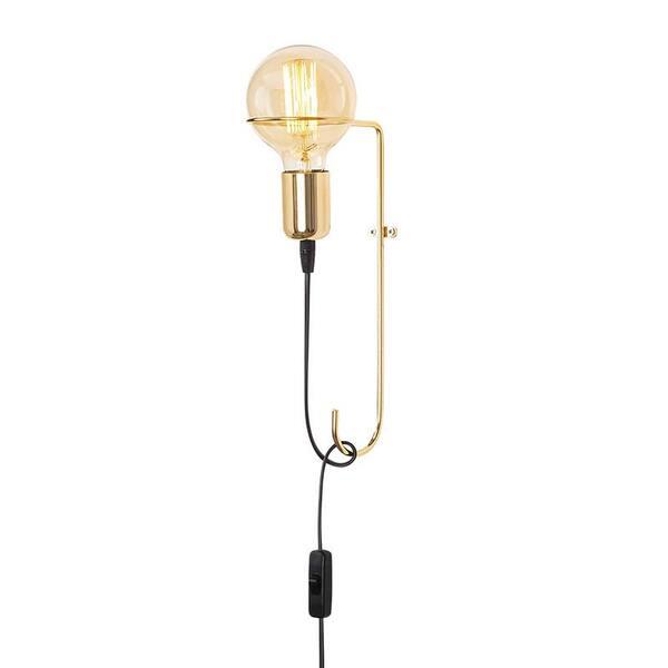Стенна лампа PWL-0055  златист цвят 15x9x30 см